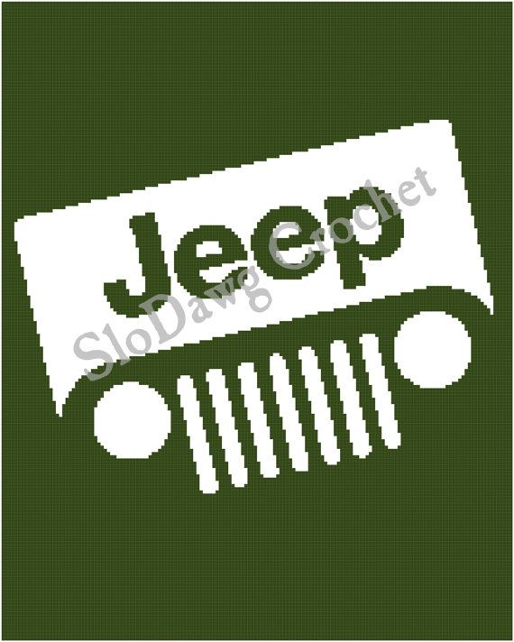 Jeep Crochet Graph Afghan Pattern By Slodawgcrochet On Etsy