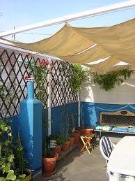 toldo de terraza casero