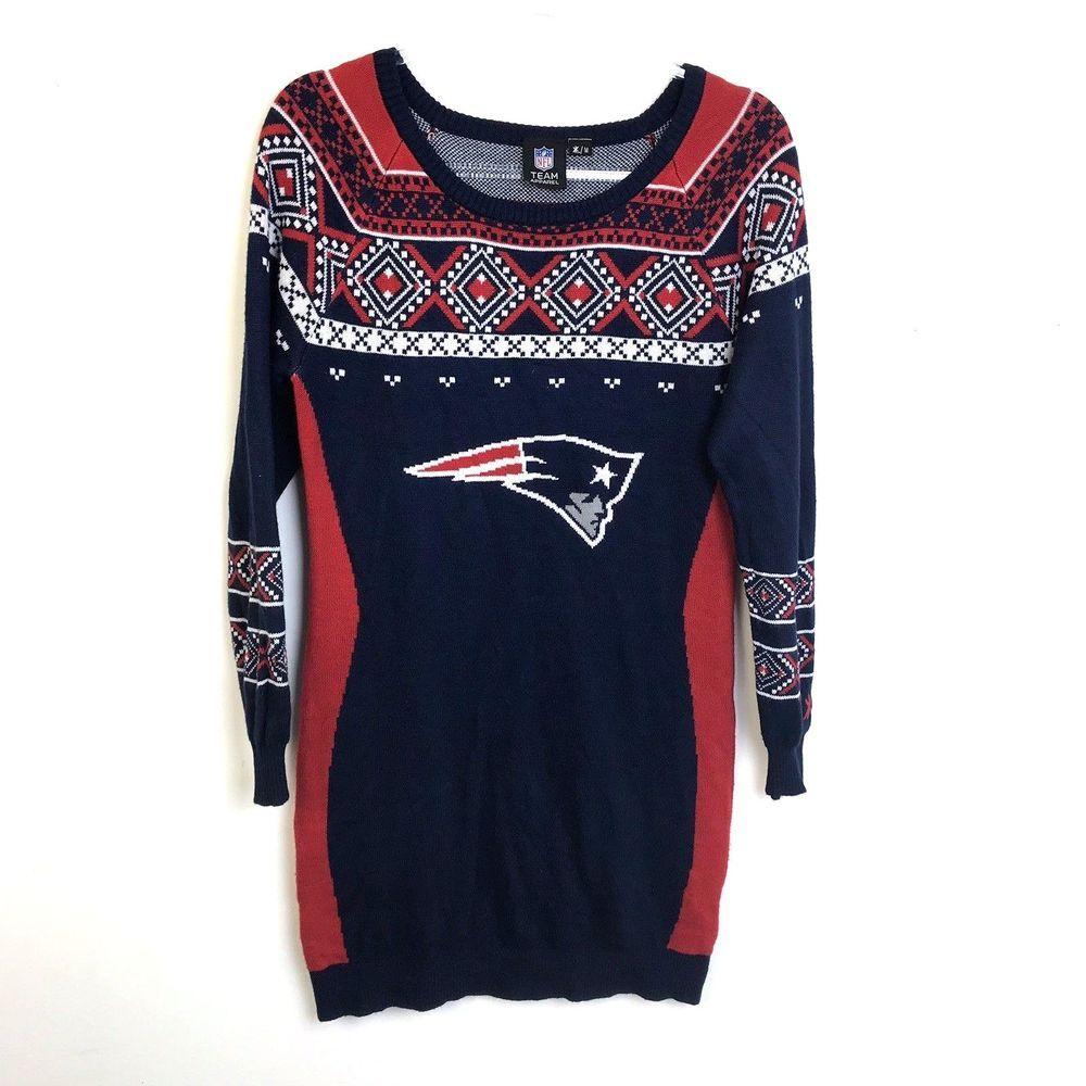 Nfl Team Apparel Knit Dress New England Patriots Medium Football Fan Clothes Nflteamapparel Newenglandpatriots Team Apparel Long Sleeve Tshirt Men Clothes