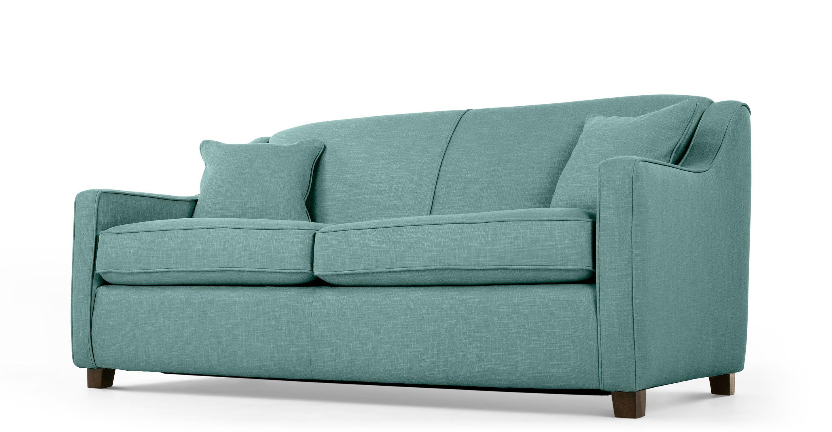 Halston un canapé convertible vert d eau
