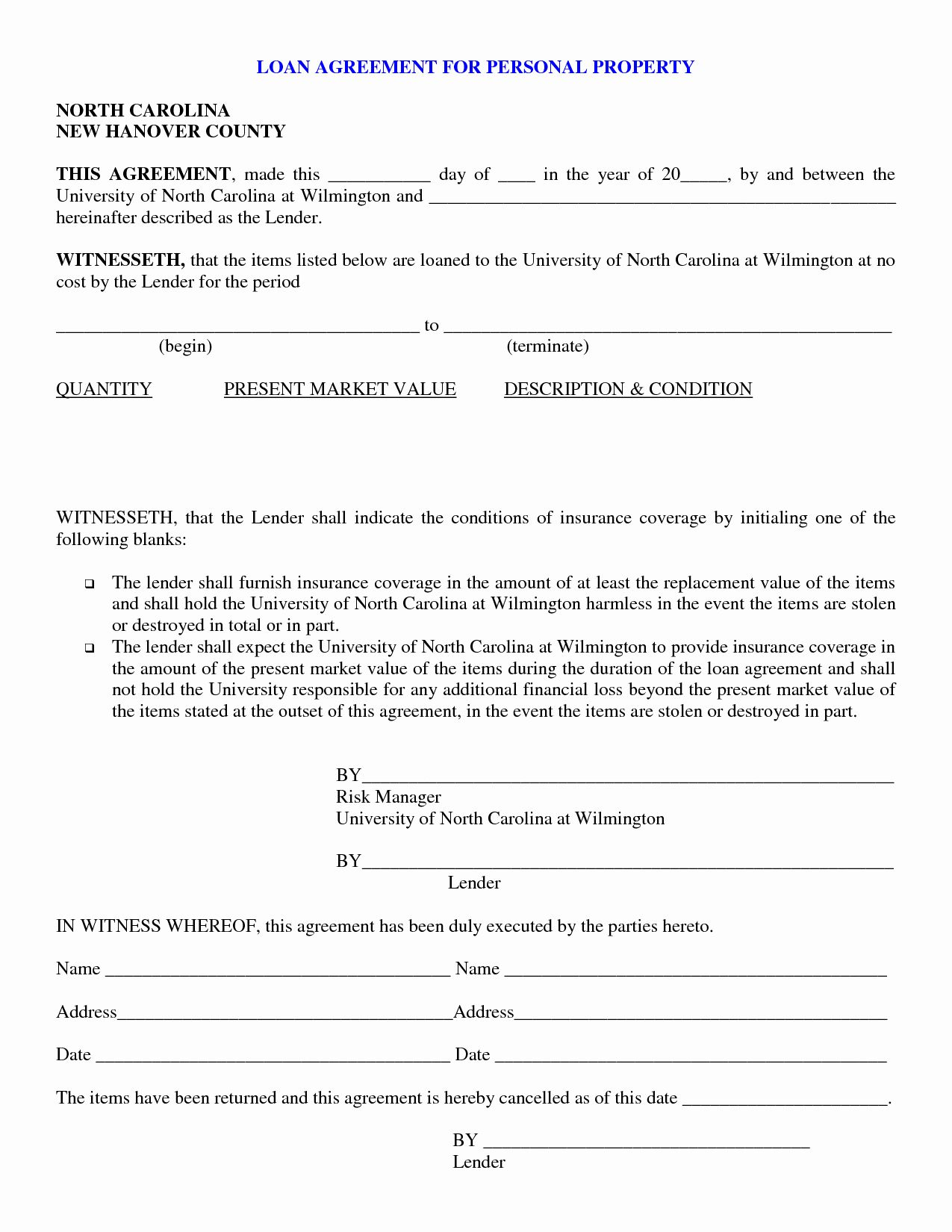 Loan Agreement Template Pdf Fresh Free Printable Loan Agreement Form Form Generic Bad Credit Car Loan Contract Template Car Payment Car loan agreement template free
