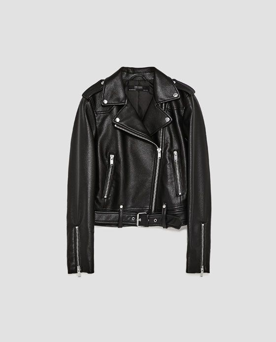 f5e5c37fa Image 8 of FAUX LEATHER BIKER JACKET from Zara | W A N T I N G ...