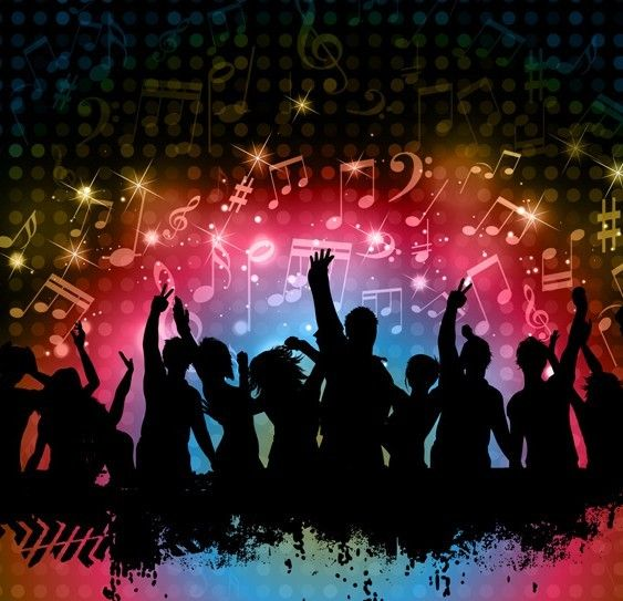 Cool Night Music Party Background Vector 02 | Free Web ...