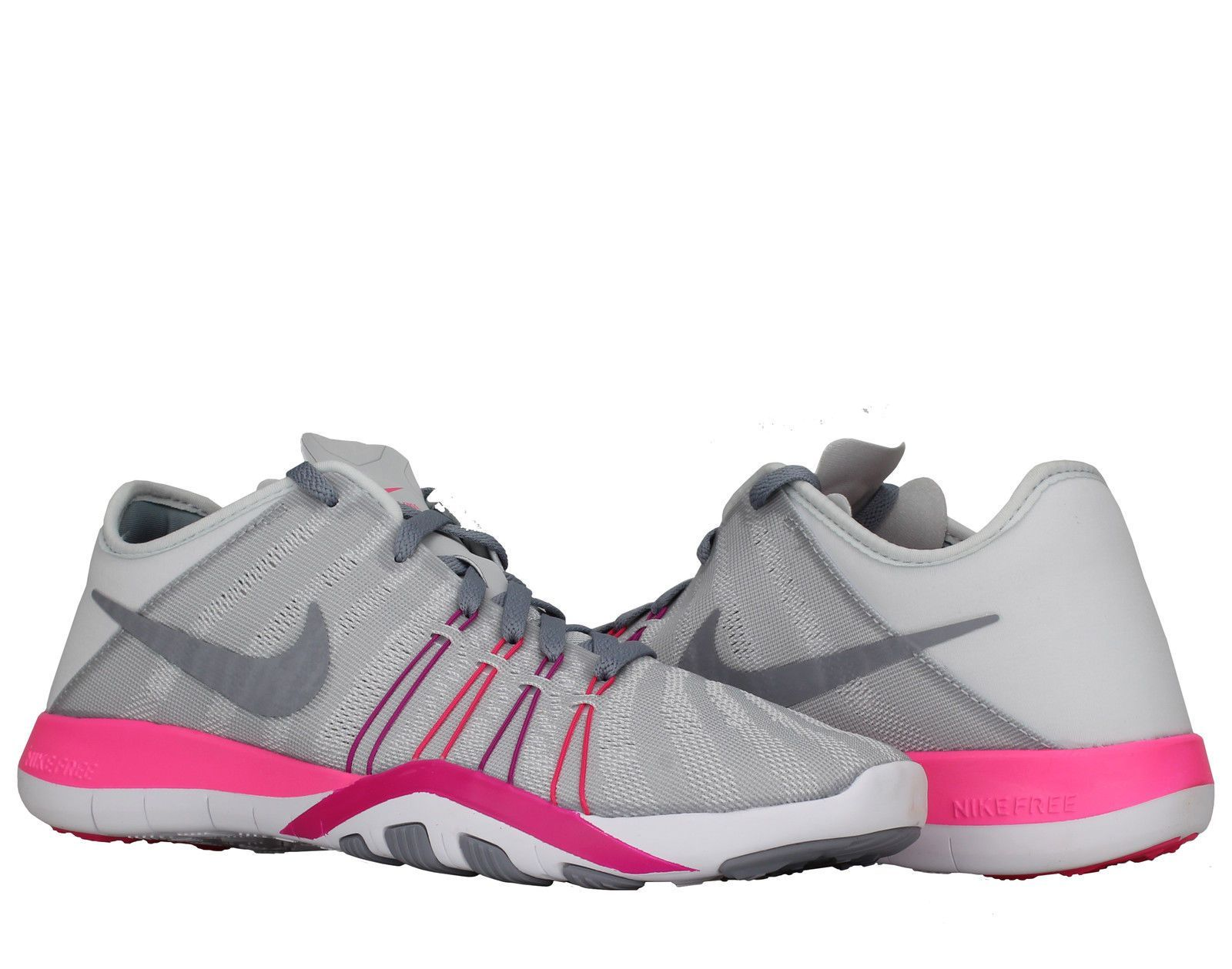 64da02f2e79f1 Nike Free Tr 6 Pure Platinum Pink-Fire Women S Cross Training Shoes 833413- 006