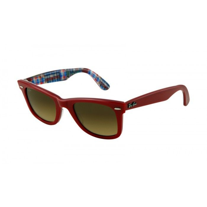 243e8692d64 ... where can i buy ray ban rb2140 original wayfarer top red on texture  plaid brown 46d31