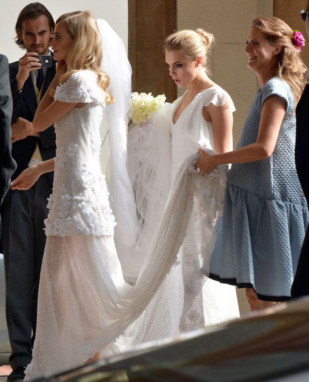 Unconventional Celebrity Bridal Dresses From Poppy Delevingne To