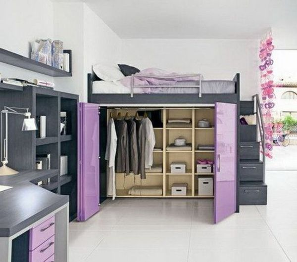 elevated bed closet google search home improvement hochbett bett schlafzimmer. Black Bedroom Furniture Sets. Home Design Ideas