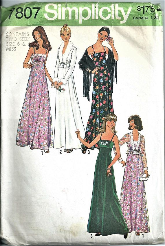 Simplicity Sewing Pattern Vintage 7807 Dress Unlined Jacket | My ...