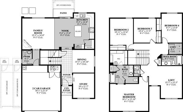Dr Horton Princeton Floor Plan Floor Plans Horton Homes Dr Horton Homes