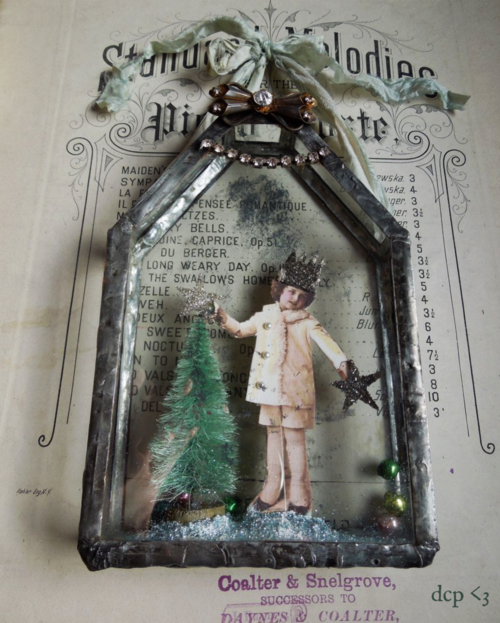 for the love of soldering vintage Christmas look
