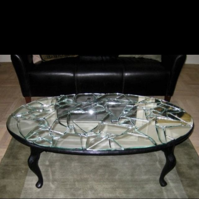 I Took An Old Brown Coffee Table Spray Painted It Black Then
