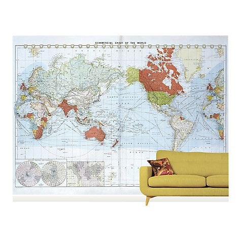 Buy surface view commercial chart of the world wall mural 360 x buy surface view commercial chart of the world wall mural 360 x 265cm online at gumiabroncs Image collections