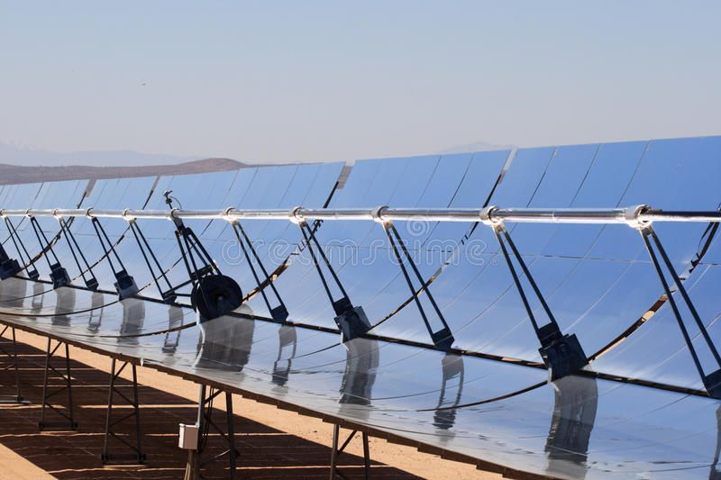 Solar Energy Power Plant Segs Solar Thermal Energy Electricity Plant With Parab Sponsored Plant With Images Solar Thermal Energy Solar Thermal Thermal Power Plant