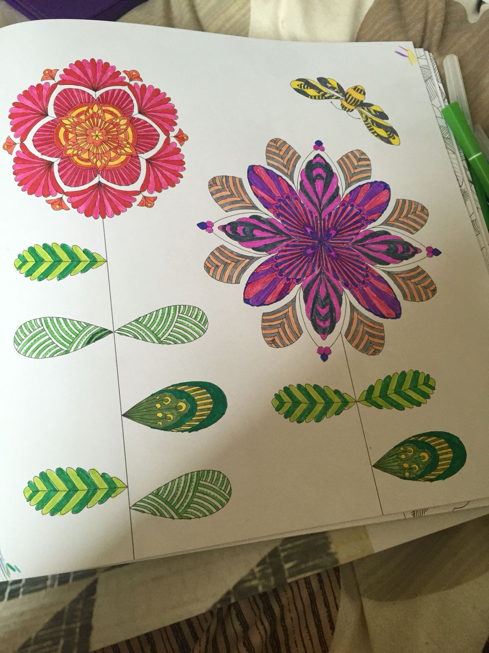 Flowers From Millie Marottas Animal Kingdom Colouring Book