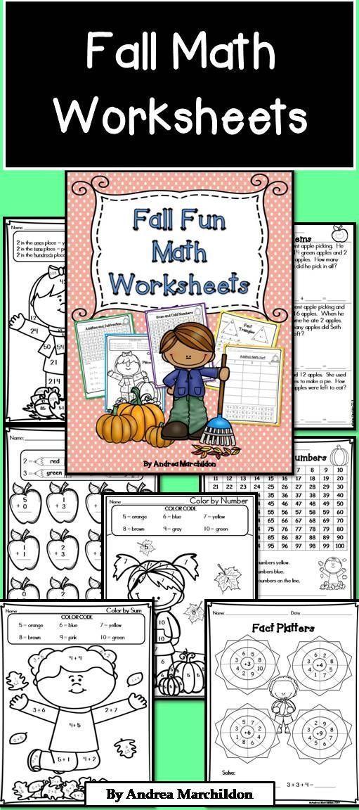 Fall Math Worksheets | Math worksheets, Worksheets and Math