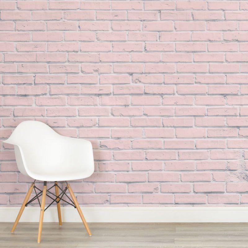 Pink Brick Wall Mural Mural Wallpaper Childrens Bedroom Wallpaper Kids Room Wallpaper