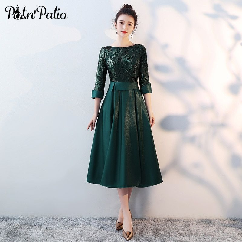 Green medium long mother of the bride dresses plus size