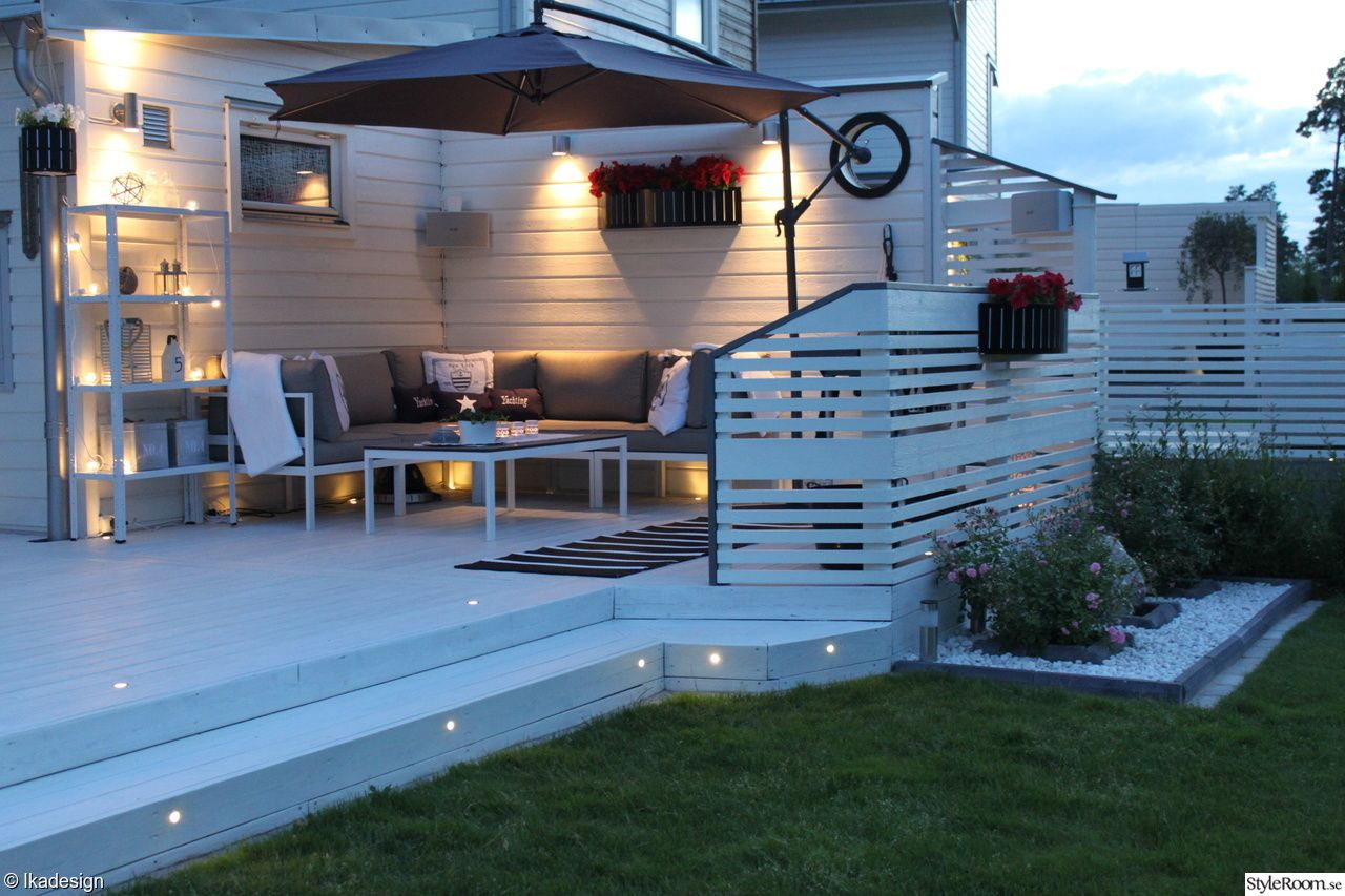 terrasse holz wei hell sitzecke gem tlich terrassengestaltung pinterest terrasse. Black Bedroom Furniture Sets. Home Design Ideas