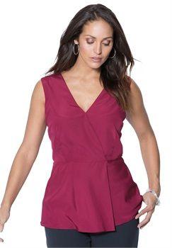 Flowy Crepe Blouse Plus Size Fashion Pinterest Size Clothing