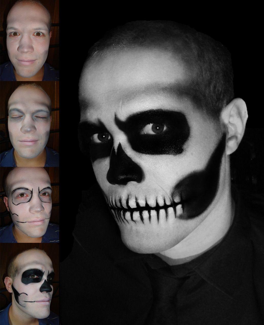 Skull Makeup Taniajohanna Follow Me Taniajohanna Tumblr Com Halloween Makeup Diy Mens Halloween Makeup Halloween Makeup