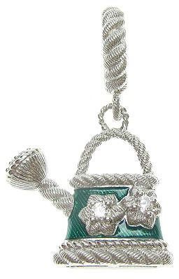 Judith Ripka Sterling Diamonique Watering Can Charm