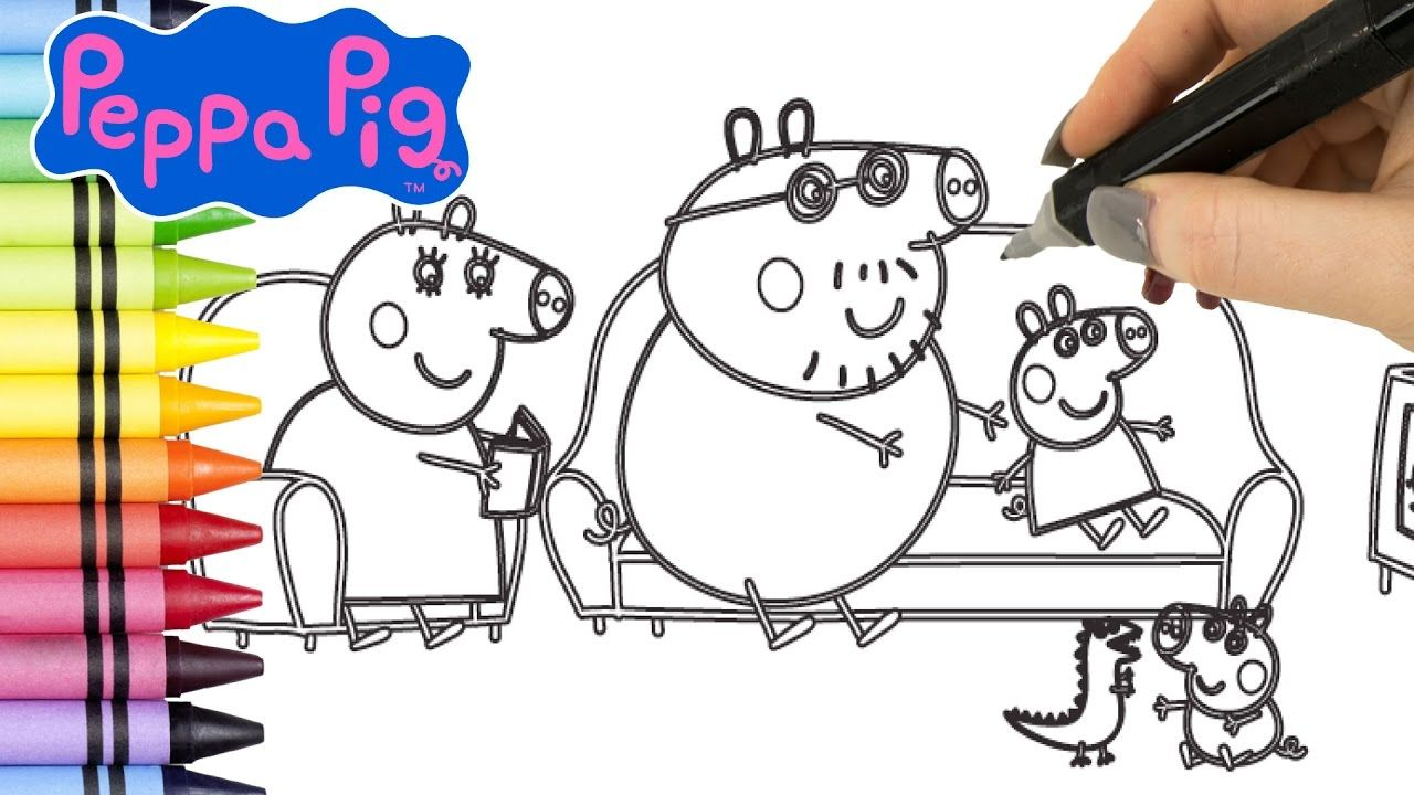 Peppa Pig Coloring Book Videos for Kids. Coloring Pages with Peppa ...