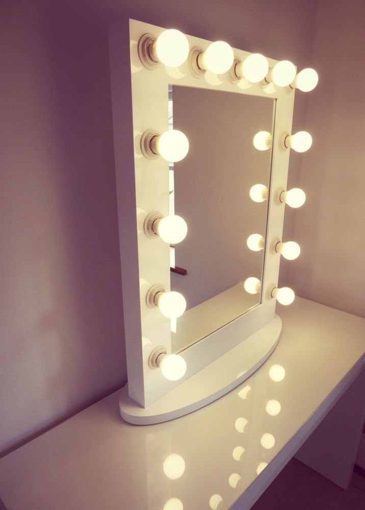 Hollywood Vogue Lighted Makeup Vanity Mirror With Drawers Dimmer