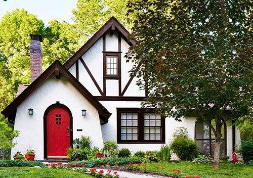 Немецкий фасад - идея дома с фахверком