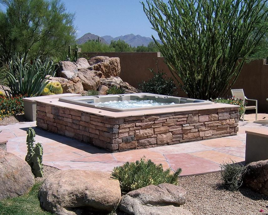 above ground pool landscaping above ground spas. Black Bedroom Furniture Sets. Home Design Ideas