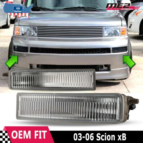 Fog Lights Assembly For 2003-2007 Scion XB With Smoke Lens 2PCS OEM Fog Lamps With 9006 12V 55W Bulbs AUTOWIKI