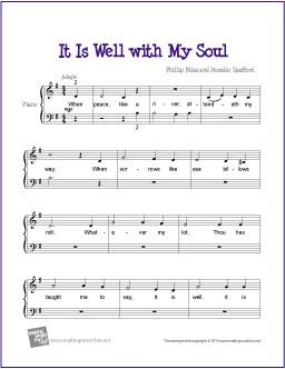 It Is Well With My Soul With Images Easy Piano Sheet Music