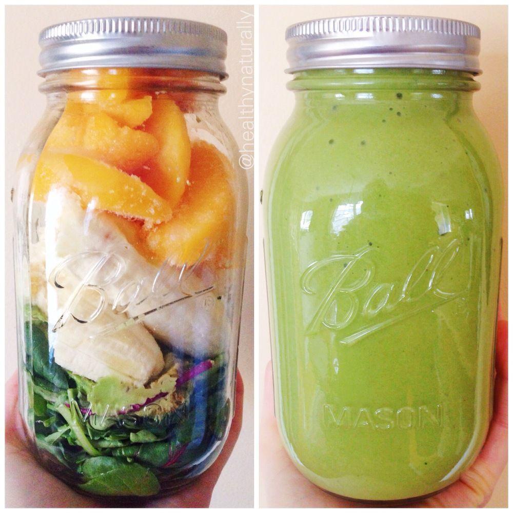 peachy green smoothie.