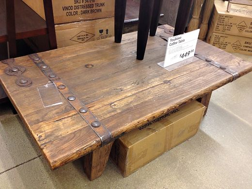 World Market Youkoso Coffee Table Reclaimed Wood Lumber Rustic Furniture