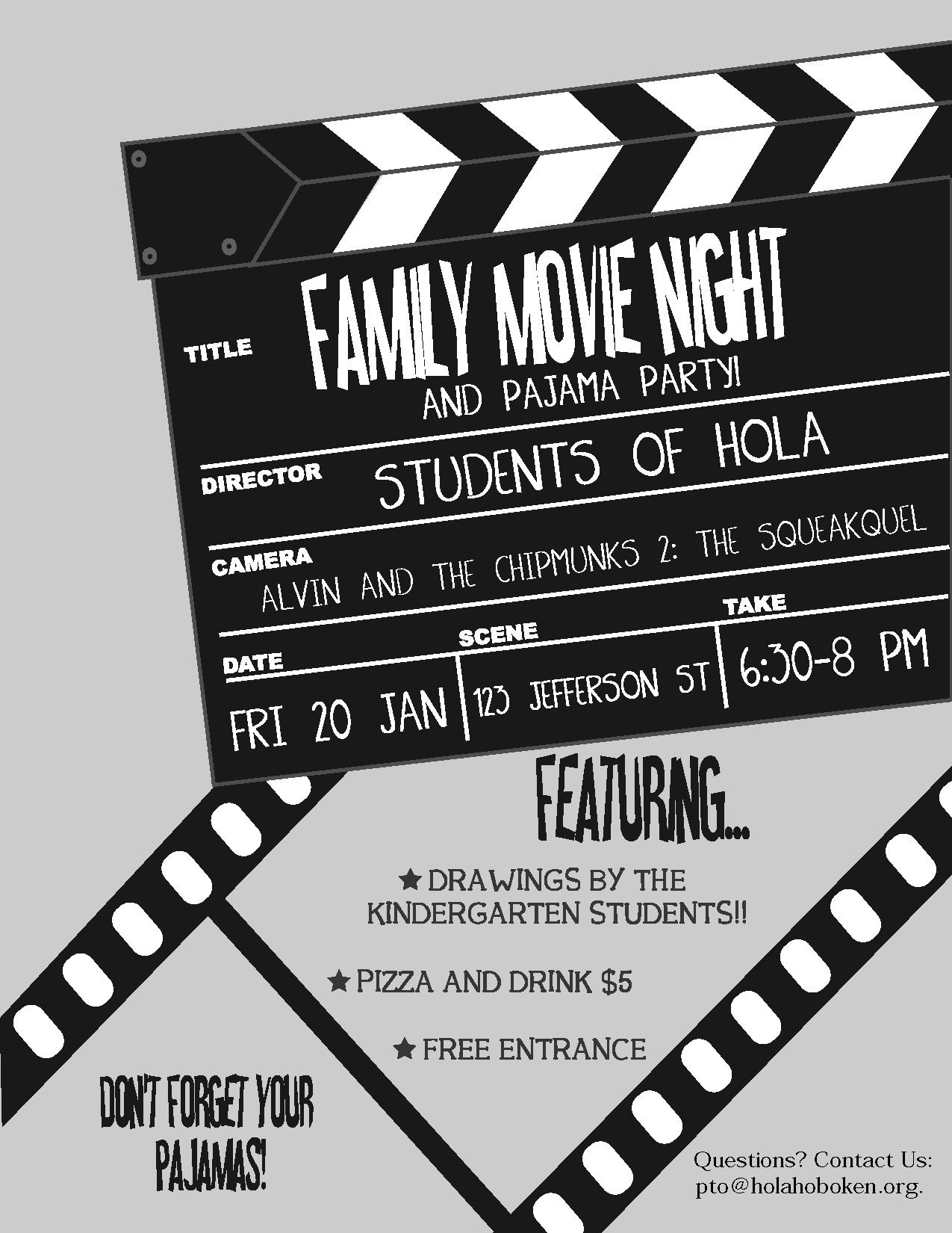 flyers are a great way to promote your movie night send them home in each students bag pto. Black Bedroom Furniture Sets. Home Design Ideas