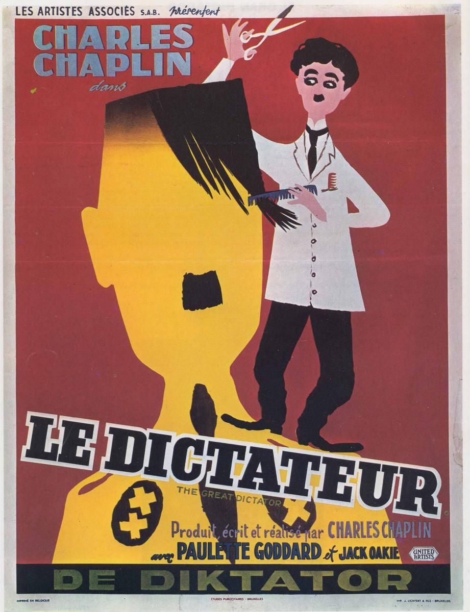 The Great Dictator Charlie chaplin movies, Movie posters