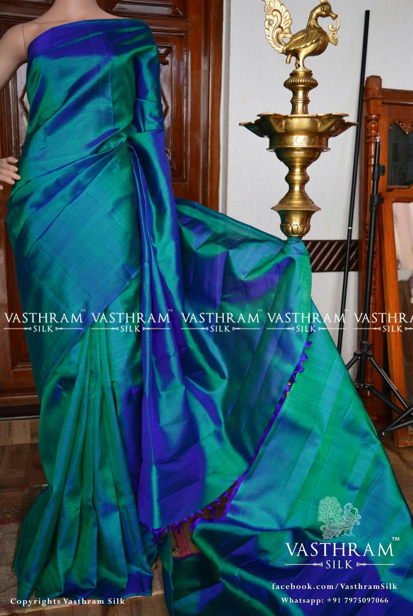 00c3b44c04c Peacock green plain Cost  7800 inr Whatsapp  91 7019277192 Onam Saree