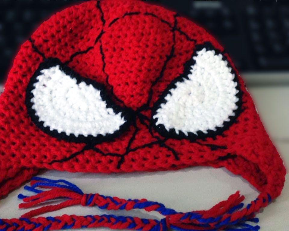 Spiderman Hat Woolly Stitched Crochet Crochet Crochet