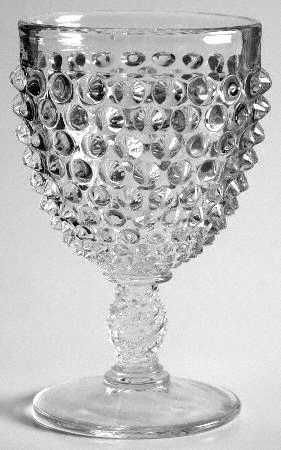 "Fenton ""Hobnail"" Pattern Goblet in Clear (1968-1969)"