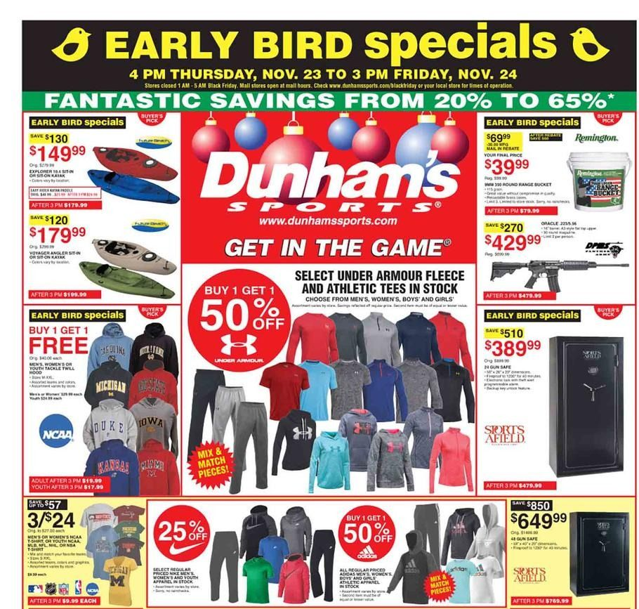 Dunham's Sports Black Friday 2018 Ads and Deals (With