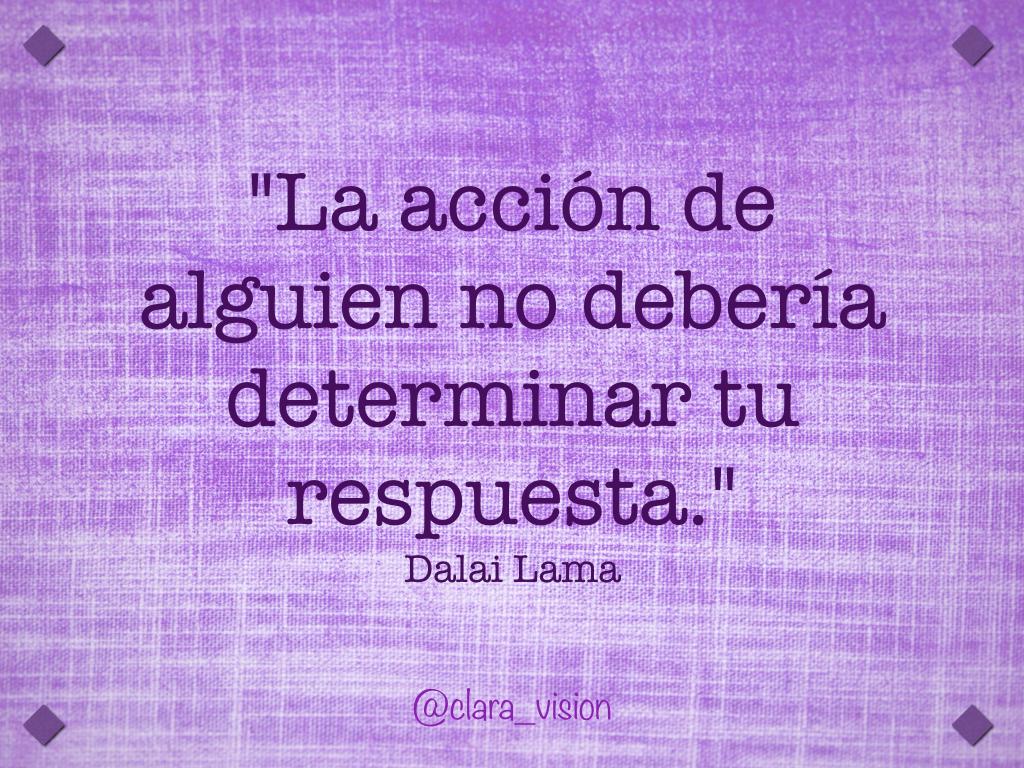 La acción de alguien no debería determinar tu respuesta.