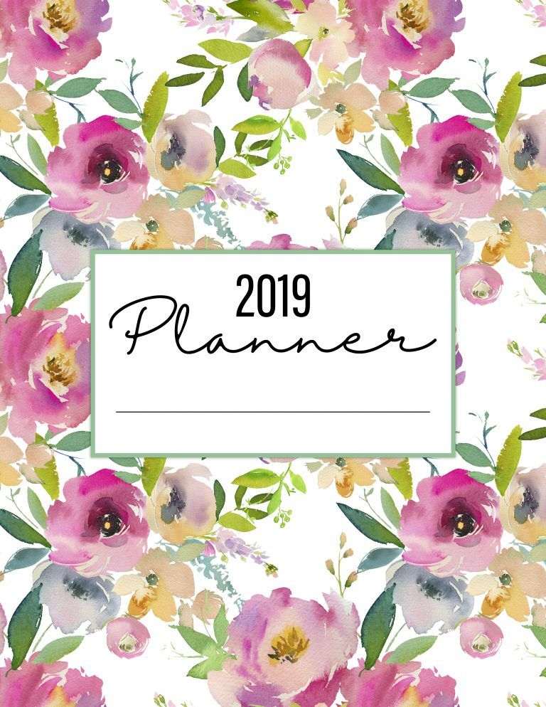 The Best 2019 Free Printable Planner to Organize Your Life! /// 50+ Pages #50freeprintables
