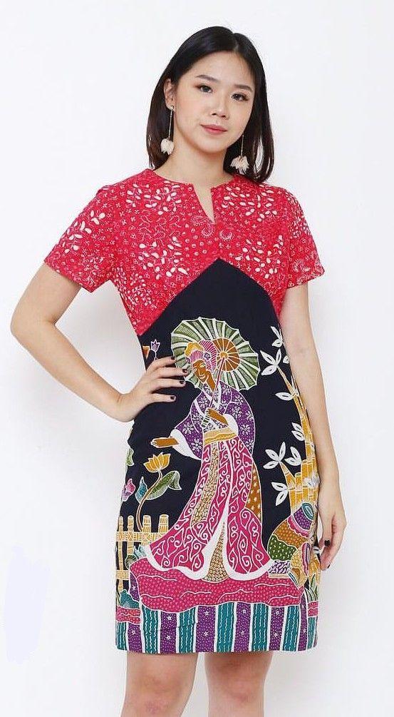 Baju Batik Dress Pendek