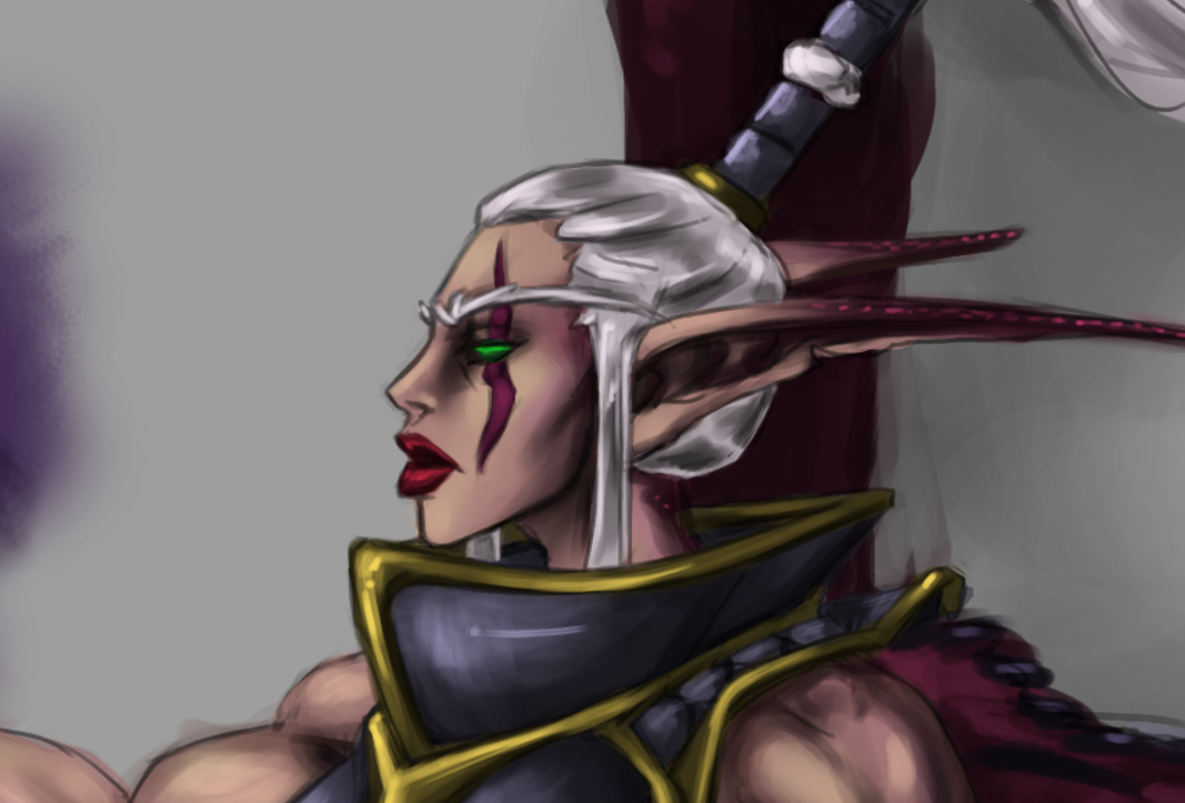 samariyu draws totally not drawing a demonic the night elves or kaldorei which means childre