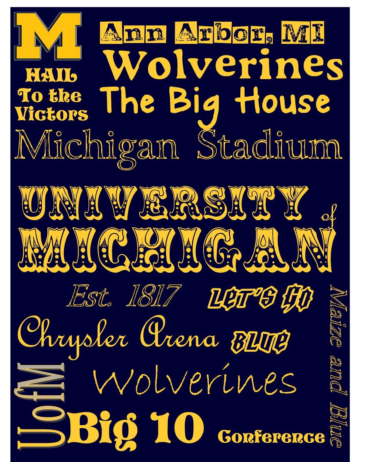 University Of Michigan Subway Print Free Printables