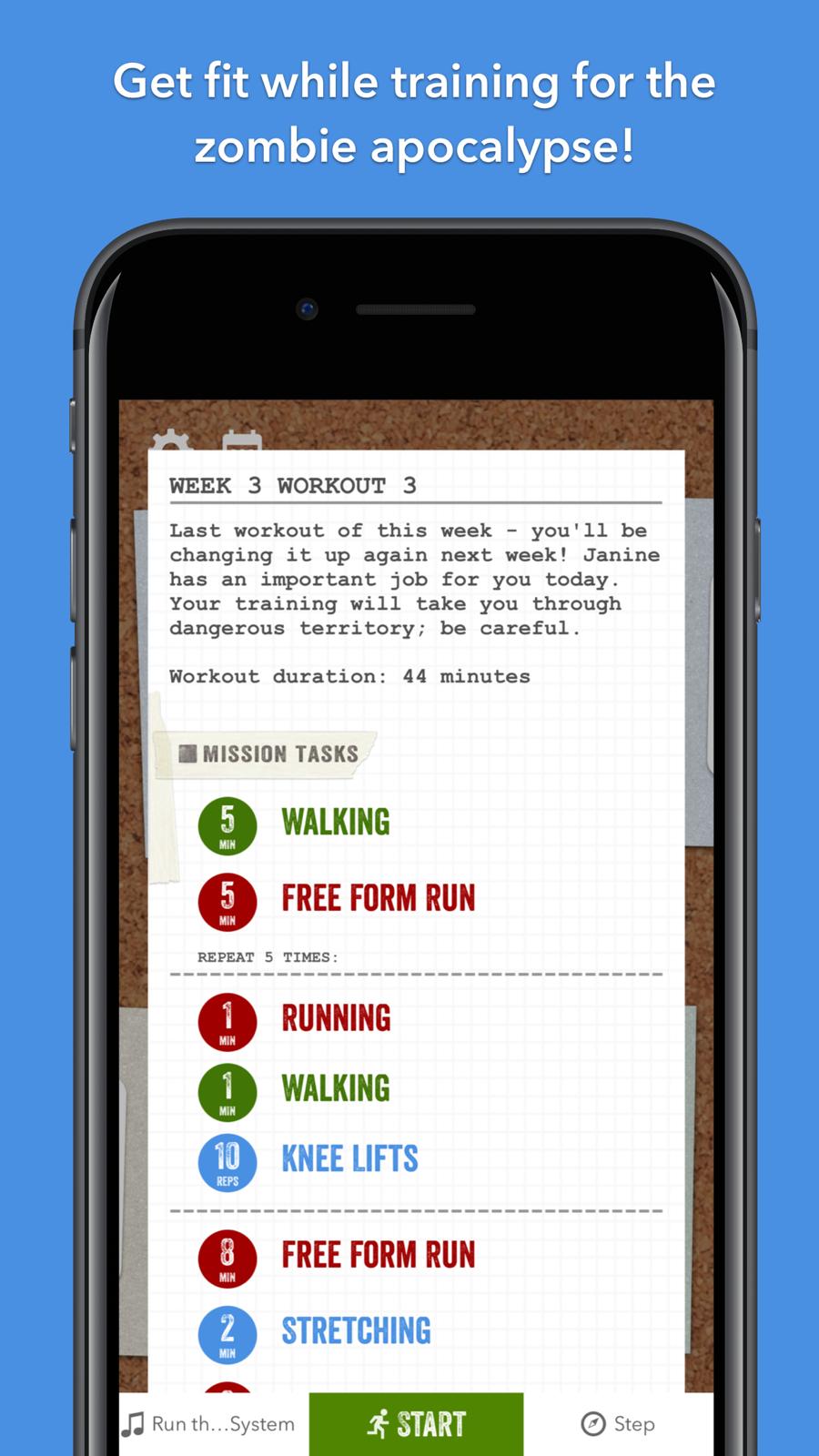 Zombies, Run! 5k Training on the App Store 5k training