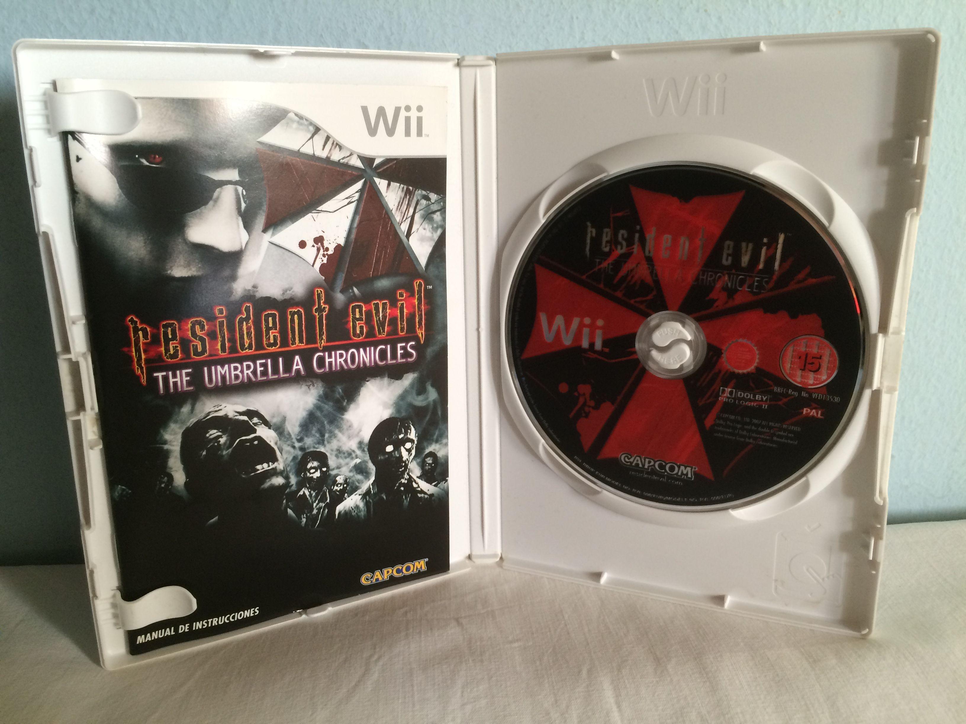 Resident Evil The Umbrella Chronicles game opened.