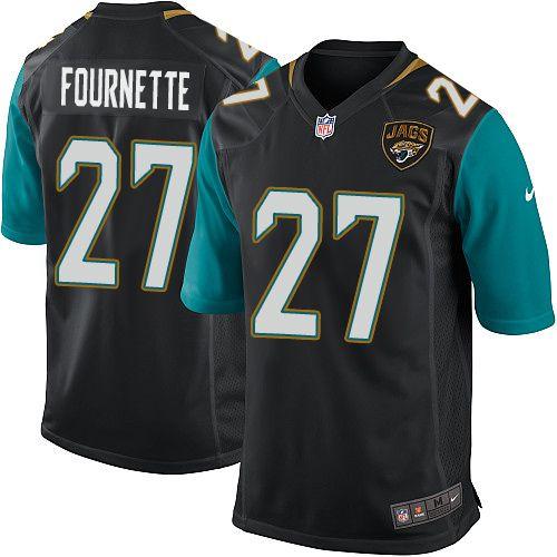 Men s Nike Jacksonville Jaguars  27 Leonard Fournette Game Black Alternate  NFL Jersey c42c6fd8f