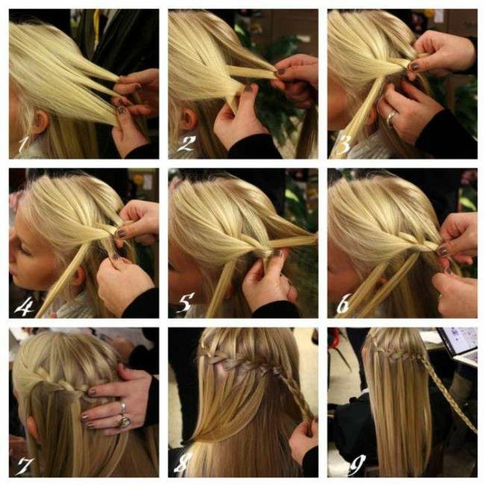 Wasserfall Zopf Flechten Basics 3 Minuten Frisur Flechtfrisur Fur Madchen Frisuren Lange Haare Wasserfall Wasserfall Frisur Geflochtene Frisuren