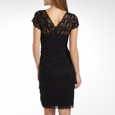 Lace Shutter-Pleat Dress - jcpenney  Comes in a pinkish color and has sparklies!  (130/90)