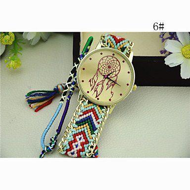 504898c43dfd Estilo nacional de Corea del Sur tejer atrapasueños cadena de reloj de  bricolaje de las mujeres